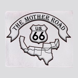 Route 66 Mother Road Design Throw Blanket