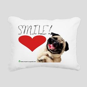 smile pug Rectangular Canvas Pillow