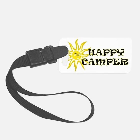 Happy Camper Sunshine Luggage Tag
