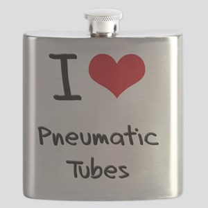 I Love Pneumatic Tubes Flask
