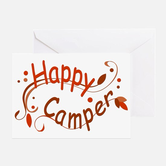 Happy Camper Red Greeting Card