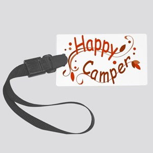 Happy Camper Red Large Luggage Tag