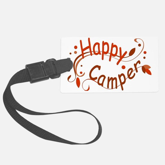 Happy Camper Red Luggage Tag