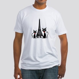 Cats Eiffel Tower Pillow Fitted T-Shirt