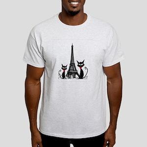 Cats Eiffel Tower Pillow Light T-Shirt