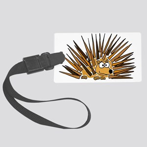 Funky Porcupine Art Large Luggage Tag