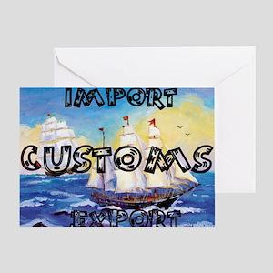 Customs Broker Greeting Card