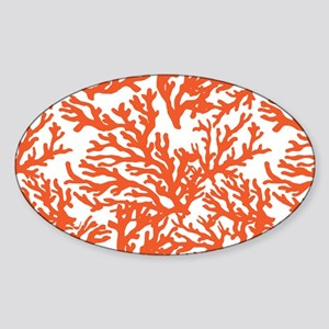 Coral Beach Sticker (Oval)