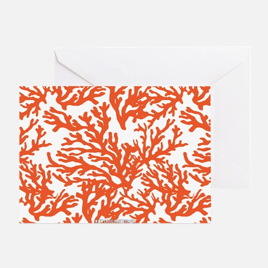 Coral Beach Greeting Card