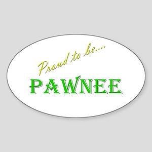 Pawnee Oval Sticker