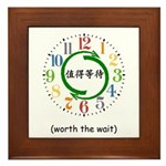 Worth the Wait (Chinese) Framed Tile