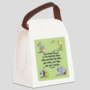 Good Friends Canvas Lunch Bag
