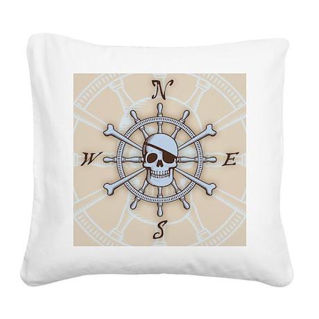 ship-wheel-sk-LG Square Canvas Pillow