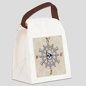 ship-wheel-sk-LG Canvas Lunch Bag