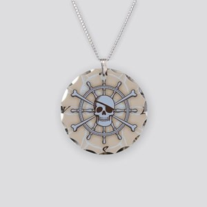 ship-wheel-sk-LG Necklace Circle Charm
