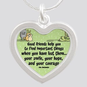 Good friends Silver Heart Necklace