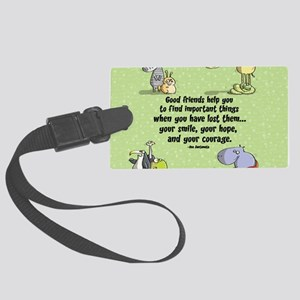 Good friends Large Luggage Tag