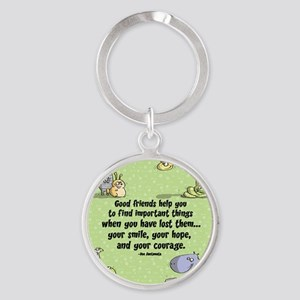 Good friends Round Keychain