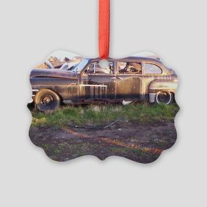 50s Rust Picture Ornament
