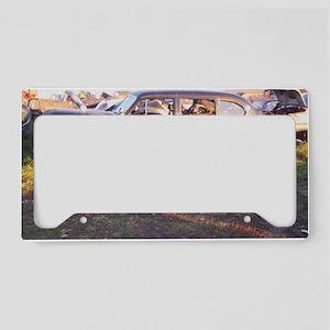 50s Rust License Plate Holder