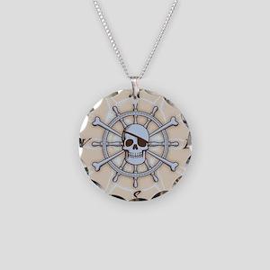 ship-wheel-sk-PLLO Necklace Circle Charm