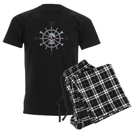ship-wheel-sk-LTT Men's Dark Pajamas