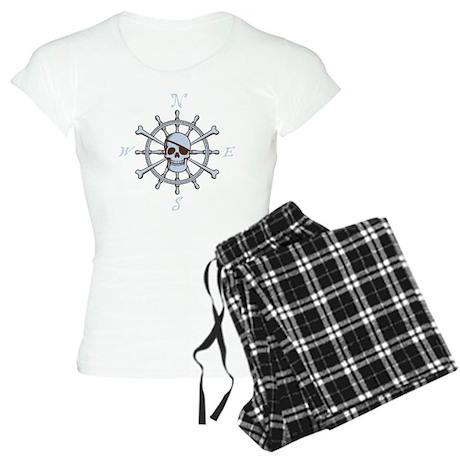 ship-wheel-sk-DKT Women's Light Pajamas