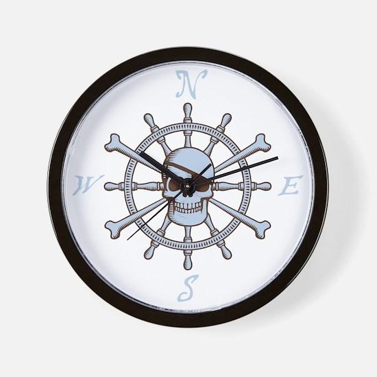 ship-wheel-sk-DKT Wall Clock
