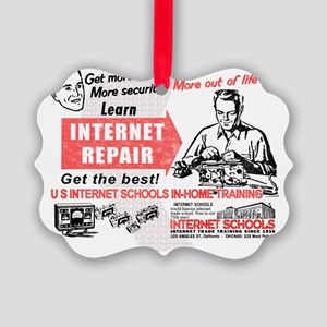 Internet Repair Picture Ornament