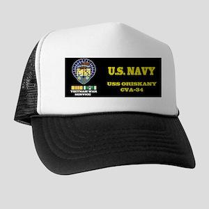 CVA34 USS ORISKANY Trucker Hat