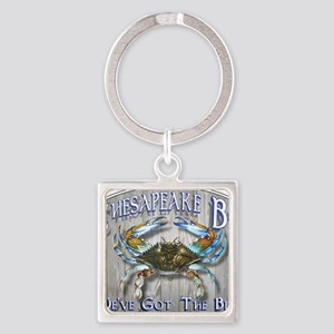 Chesapeake Bay Blues Square Keychain