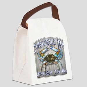 Chesapeake Bay Blues Canvas Lunch Bag