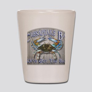 Chesapeake Bay Blues Shot Glass