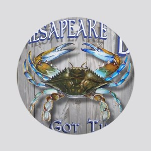 Chesapeake Bay Blues Round Ornament