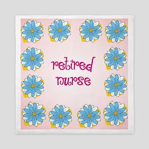 retired nurse pink background Queen Duvet