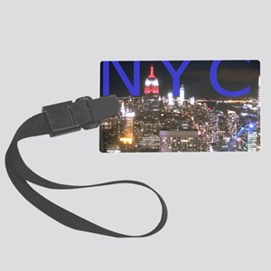 New York at Night Large Luggage Tag