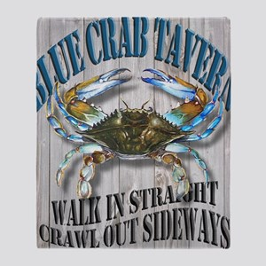 Blue Crab Tavern Throw Blanket