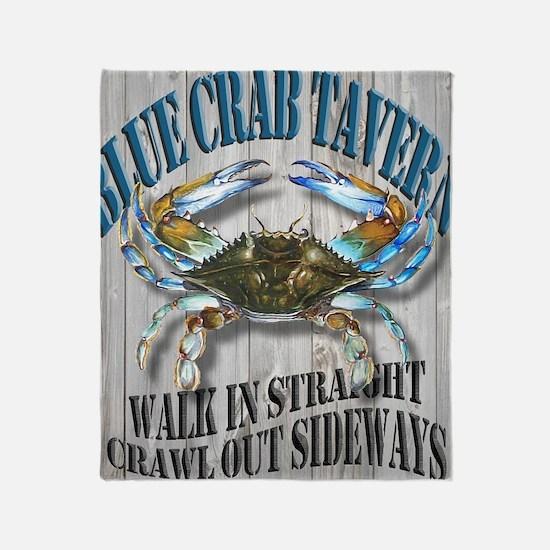 Blue Crab Tavern Throw Blanket