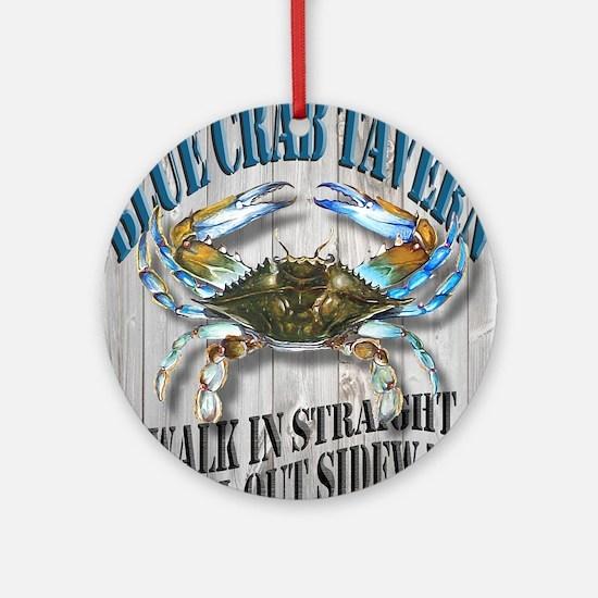 Blue Crab Tavern Round Ornament