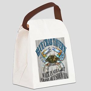 Blue Crab Tavern Canvas Lunch Bag