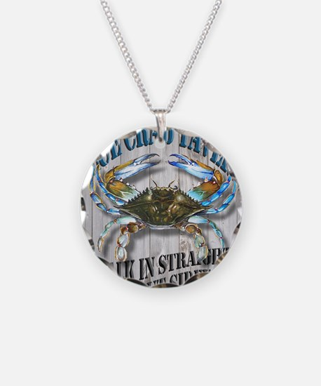 Blue Crab Tavern Necklace
