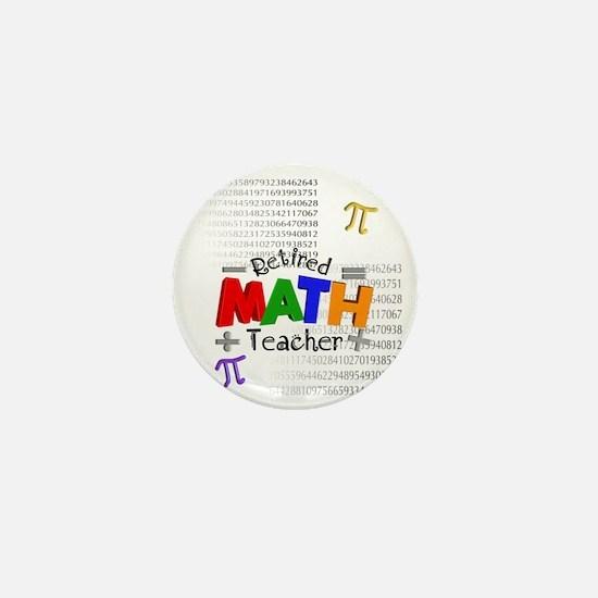 Retired Math Teacher 1 Mini Button