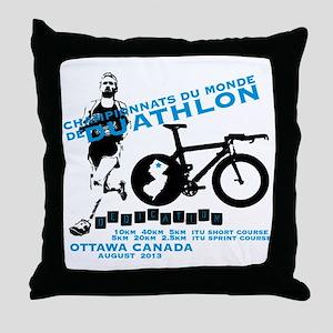 duathlon worlds Throw Pillow