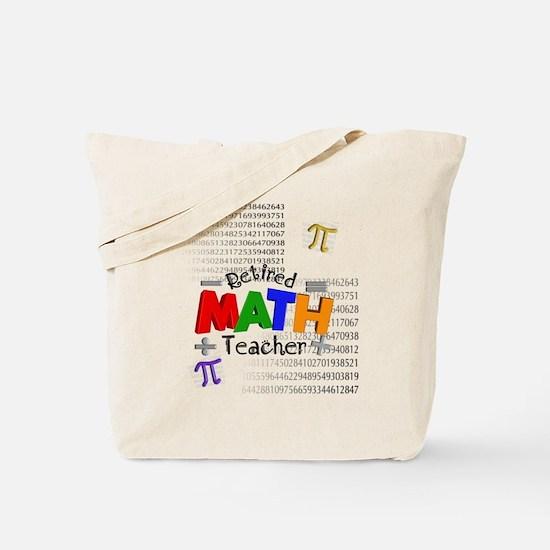 Retired Math Teacher 1 Tote Bag