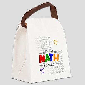 Retired Math Teacher 1 Canvas Lunch Bag