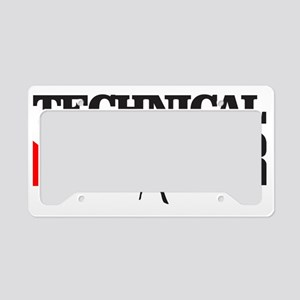 Technical Diver License Plate Holder