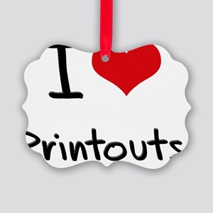 I Love Printouts Picture Ornament