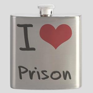 I Love Prison Flask