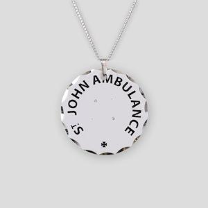 St John Ambulance Necklace Circle Charm