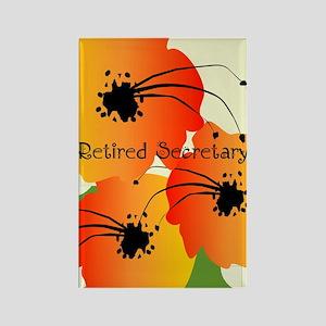 Retired Secretary 1 Rectangle Magnet